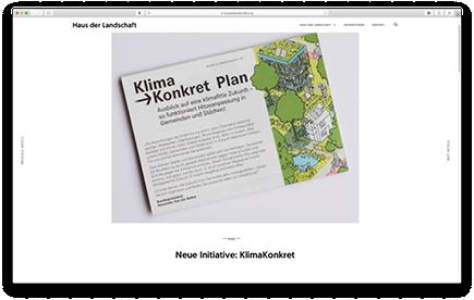 Bild der Website von Haus der Landschaft